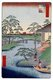 Japan: Autumn: Mokuboji Temple and Vegetable Fields on Uchigawa Inlet (��寺��御�栽�). Image 92 of '100 Famous Views of Edo'. Utagawa Hiroshige (first published 1856�59)